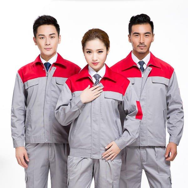 đồng phục công nhân điện lực màu xám