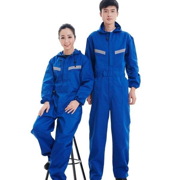 đồng phục công nhân điện lực màu xanh