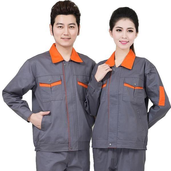đồng phục công nhân màu xám