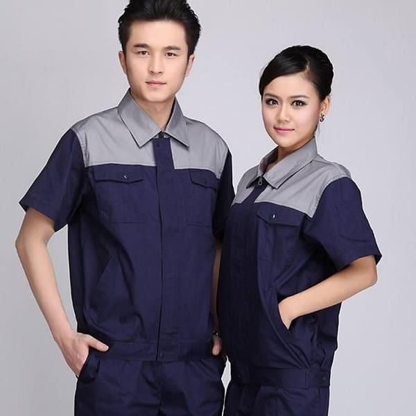 đồng phục công nhân xây dựng màu xanh đậm