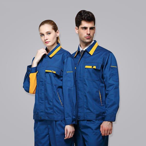 đồng phục công nhân xây dựng màu xanh