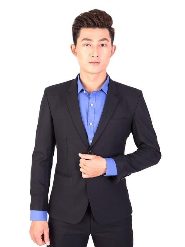 đồng phục công sở nam áo vest một cúc