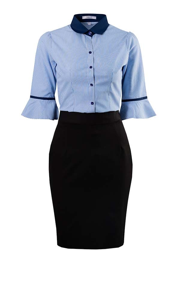 đồng phục công sở nữ áo sơ mi chân vay nữ