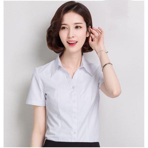 đồng phục công sở nữ áo sơ mi tay ngắn
