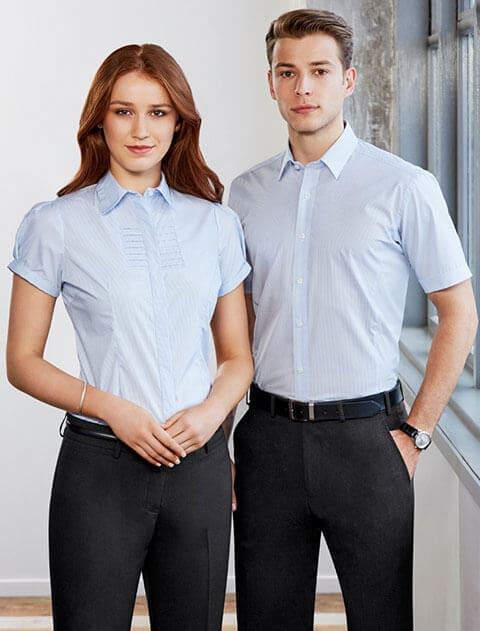 đồng phục áo sơ mi công sở tay ngắn nam nữ