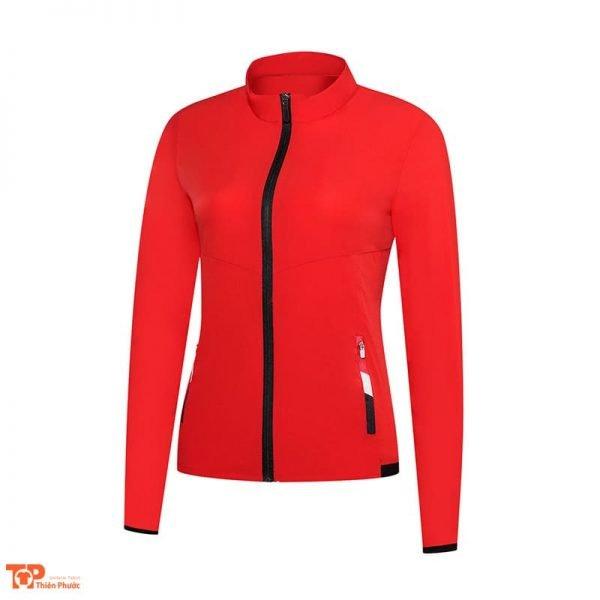 đồng phục công ty áo khoác nữ màu đỏ