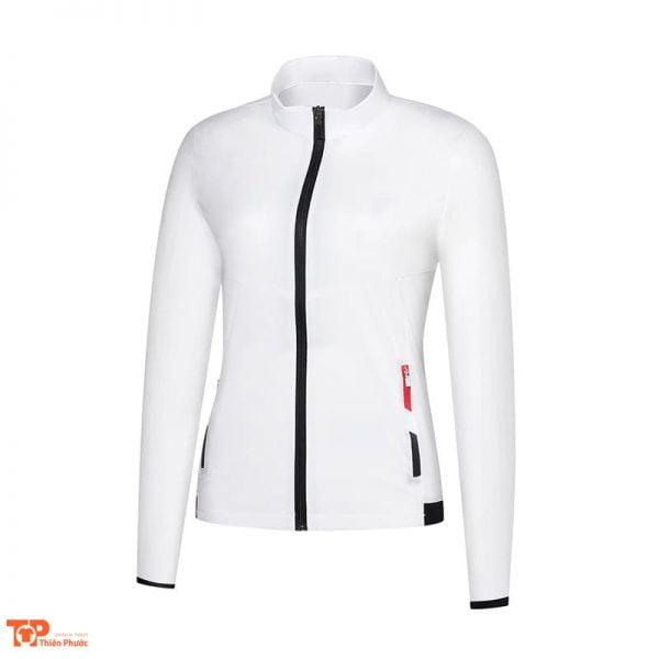 đồng phục công ty áo khoác nữ màu trắng