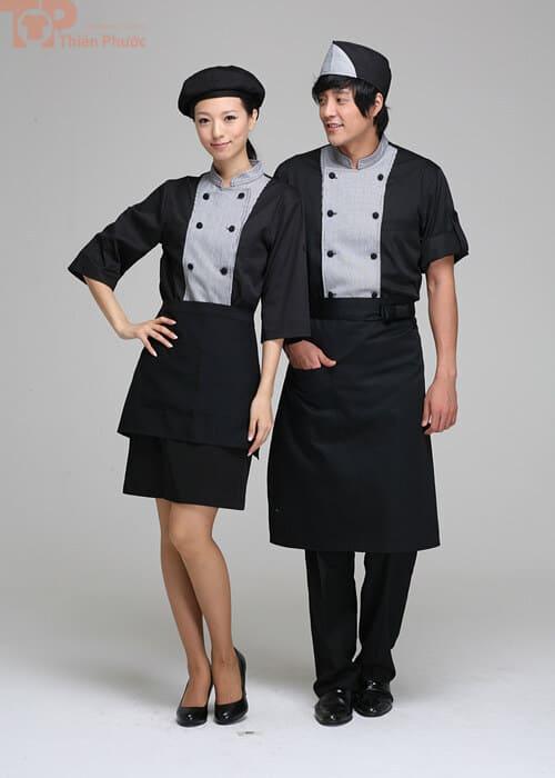 Đồng phục đầu bếp may sẵn đẹp