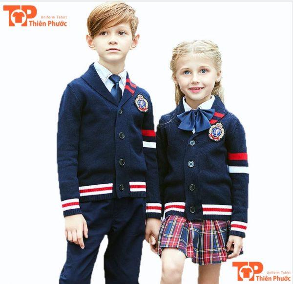 đồng phục học sinh mầm non áo vest