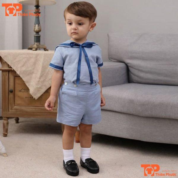 đồng phục học sinh mầm non bé trai