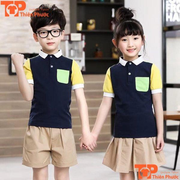 đồng phục học sinh mầm non đẹp tay ngắn