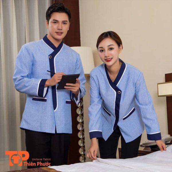 đồng phục khách sạn buồng phòng dọn dẹp