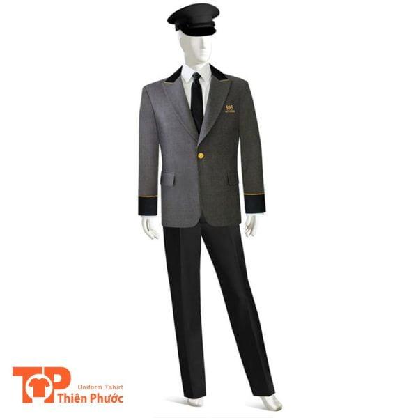 đồng phục khách sạn nam gác cổng