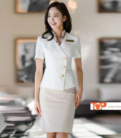 đồng phục lễ tân nhà hàng khách sạn nữ hiện đại