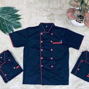 đồng phục nhà bếp màu đen