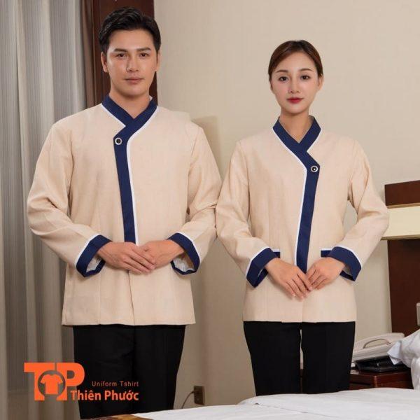 đồng phục nhà hàng khách sạn lau dọn