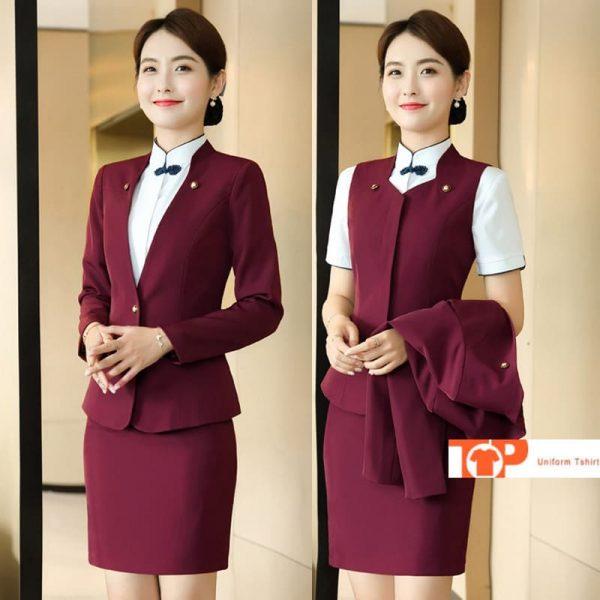 đồng phục nhà hàng khách sạn quản lý cho nữ