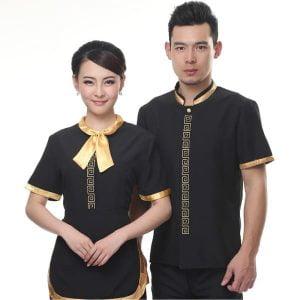 đồng phục nhà hàng màu đen