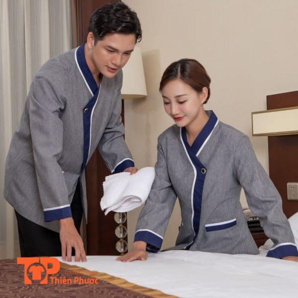 đồng phục nhà hàng khách sạn phục vụ buồng phòng chuyên nghiệp