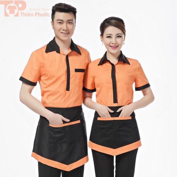 đồng phục nhân viên phục vụ bếp tay ngắn