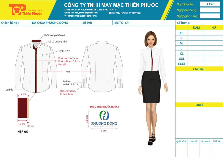 mẫu thiết kế đồng phục nữ công ty phương đông