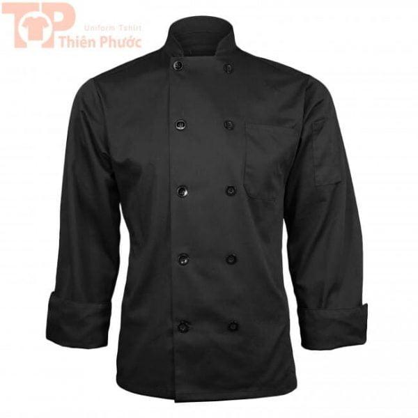 đồng phục phụ bếp màu đen