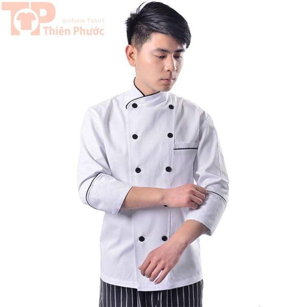 đồng phục phụ bếp may sẵn