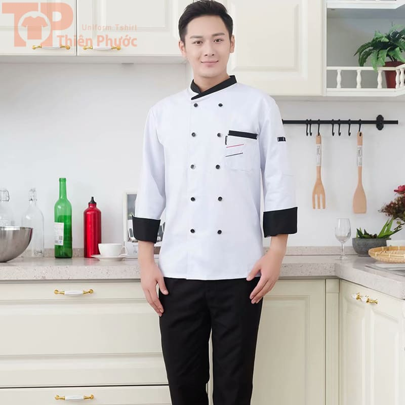 Đồng phục phụ bếp tay dài
