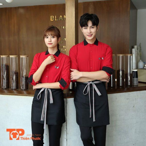 đồng phục quán cafe đẹp cho nam nữ