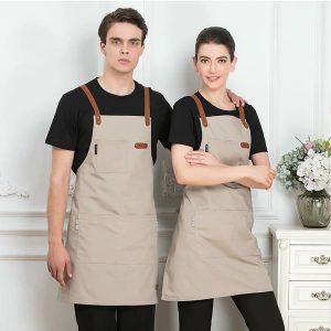 đồng phục quán cafe đẹp phối màu đen