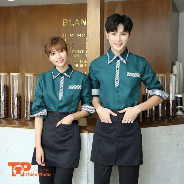 đồng phục quán cafe năng động