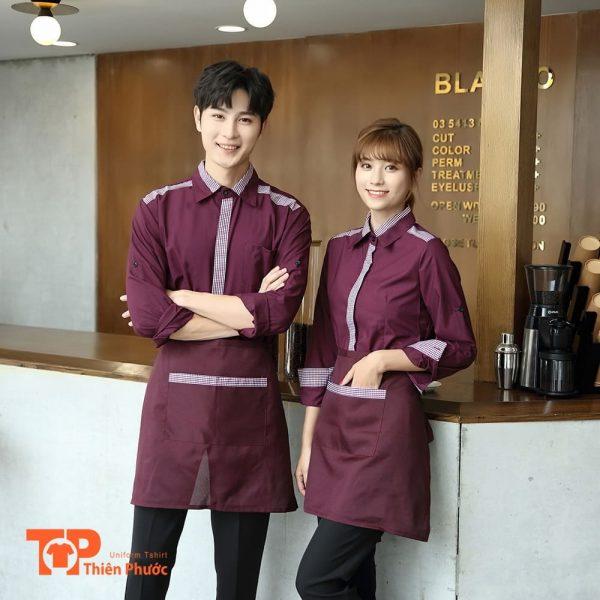 đồng phục quán cafe sang trọng