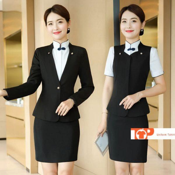 đồng phục quản lý nữ nhà hàng khách sạn chuyên nghiệp