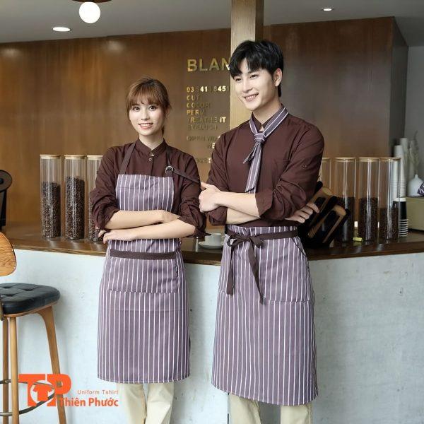 đồng phục quán trà sữa cafe