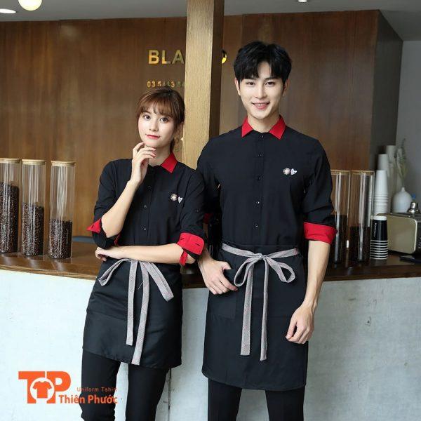 đồng phục quán trà sữa coffee cafe