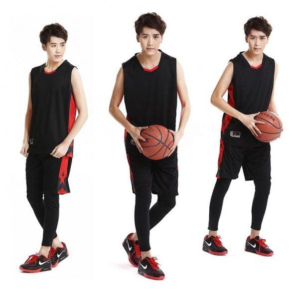 đồng phục thể thao bóng rổ nam màu đen