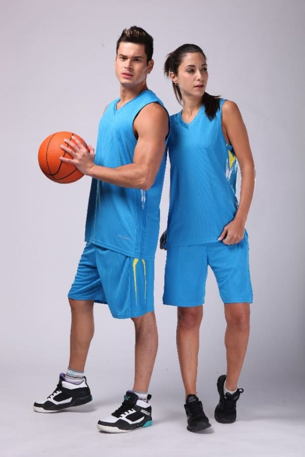 đồng phục thể thao bóng rổ nam nữ màu xanh dương
