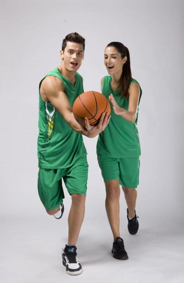 đồng phục thể thao bóng rổ nam nữ màu xanh lá
