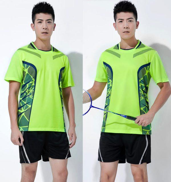 đồng phục thể thao cầu lông nam xanh chuối
