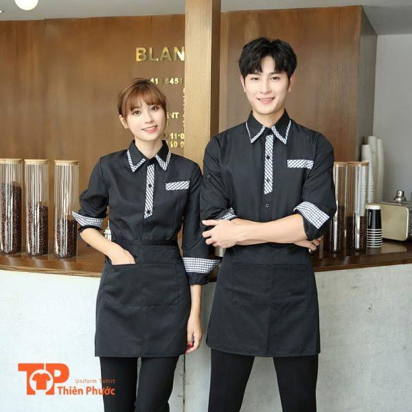 đồng phục tiệm cafe trẻ trung