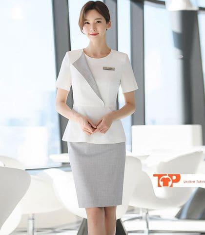 đồng phục tiếp tân nữ nhà hàng khách sạn chuyên nghiệp