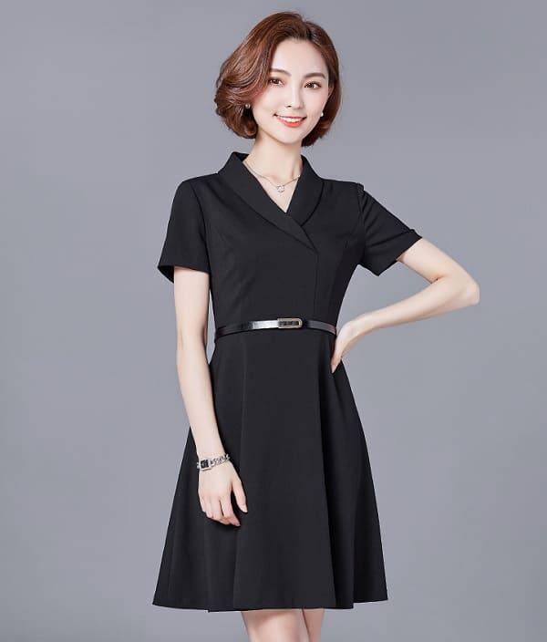 đồng phục văn phòng nữ váy xòe công sở