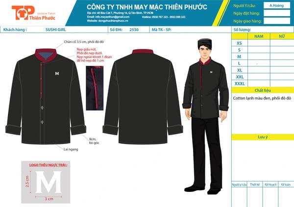 hình ảnh đồng phục nhà hàng may sẵn