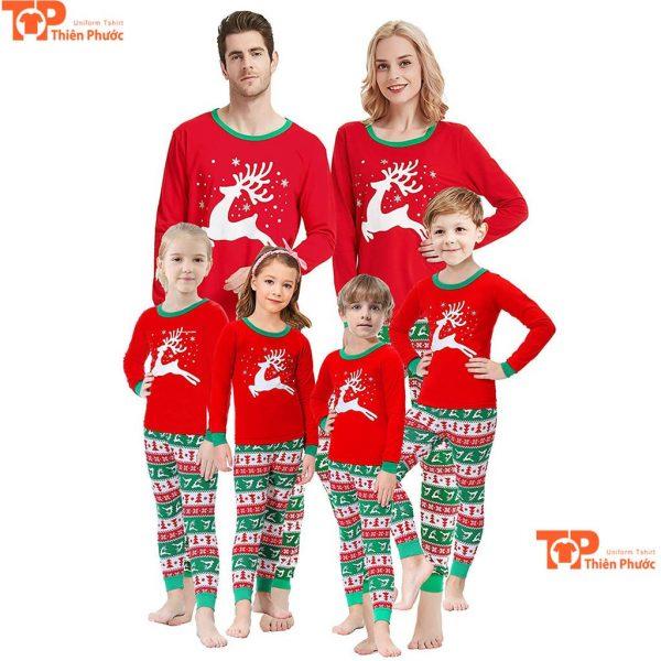 mẫu áo đôi gia đình giáng sinh