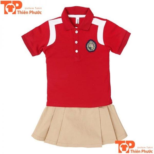 mẫu áo đồng phục học sinh mầm non cho bé gái