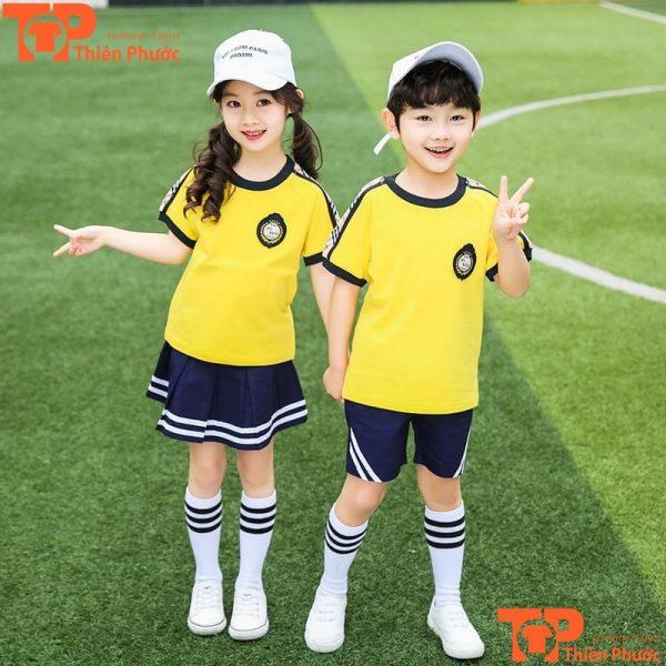 mẫu áo đồng phục học sinh mầm non năng động