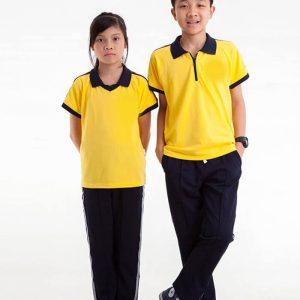 mẫu áo đồng phục thể thao học sinh tiểu học