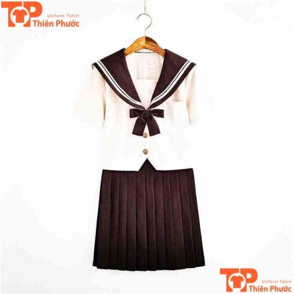 mẫu áo đồng phục mầm non cổ xòe cho bé gái
