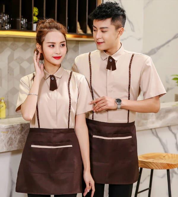 mẫu áo đồng phục nhân viên phục vụ nhà hàng