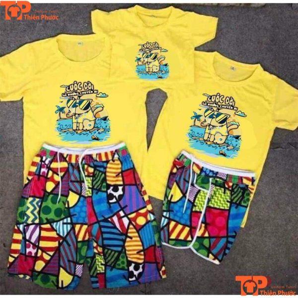 mẫu áo gia đình đi biển giá rẻ